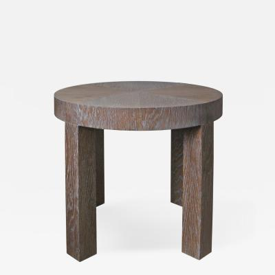 C J Peters Cerused Oak Side Table