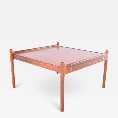 CFC Silkeborg Midcentury Rosewood Coffee Table by Illum Wikkels for CFC Silkeb rg