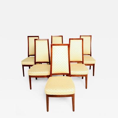 Cal Mode Kipp Stewart Cal Mode 1950s Classic Modern Dining Chairs Solid Walnut set of 6