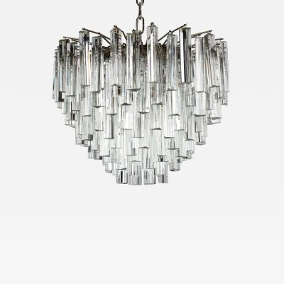 Camer Glass Camer Murano Tiered Prism Crystal Chandelier circa 1970s