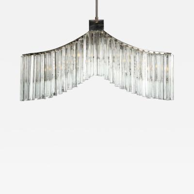 Camer Glass Murano 1970s Italian Glass Chandelier by Camer