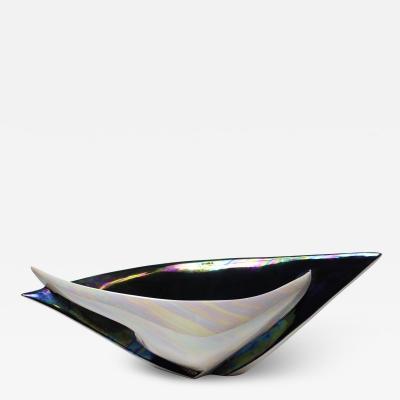 Camillo Lusso Creazioni Ceramiche Vintage Large Ceramic Bowl by Camillo Lusso Creazioni Ceramiche 1950s Italy