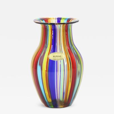 Campanella Livio Campanella Livio Murano Mid Century Modern Murano Glass Vase