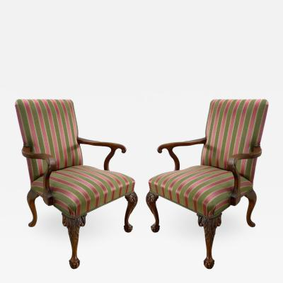 Cappellini Pair of Angelo Cappellini Chippendale Style Armchairs