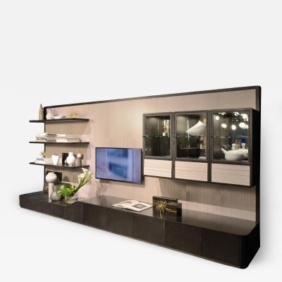 Carpanelli Contemporary Bookcases Desyo Modular Wall