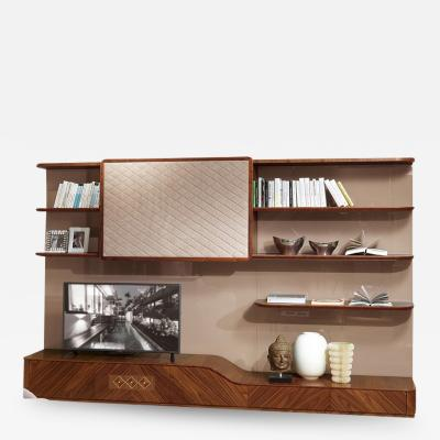 Carpanelli Contemporary Bookcases Desyo Wall