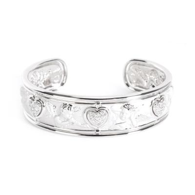 Carrera y Carrera Carrera y Carrera Cherub Cuff with Diamonds in 18K White Gold 0 3 CTW