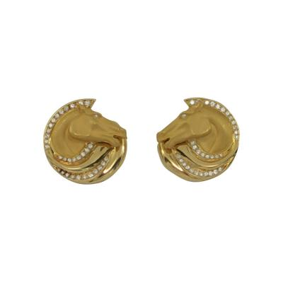 Carrera y Carrera Carrera y Carrera Equestrian Themed Earrings