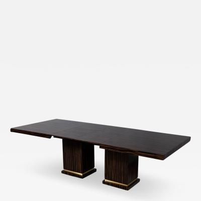 Carrocel Interiors Carrocel Custom Modern Macassar Dining Table