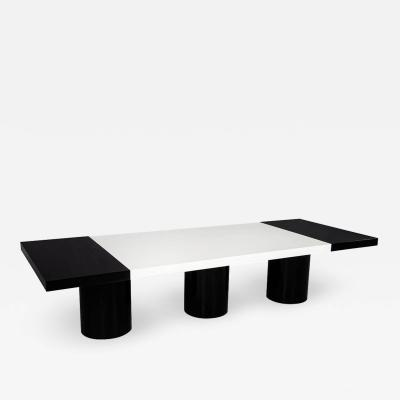 Carrocel Interiors Custom Modern Black and White Dining Table by Carrocel