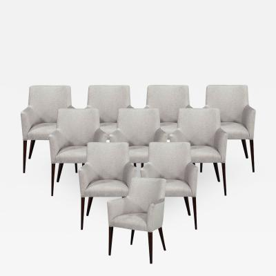 Carrocel Interiors Set of 10 Relari Custom Modern Dining Chairs by Carrocel