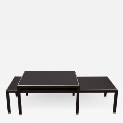 Carrocel Interiors Set of Custom Modern Black Coffee Tables