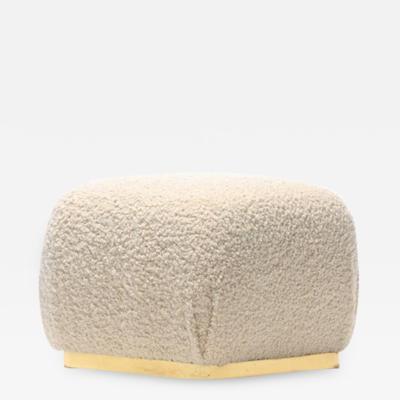 Carson s Furniture Karl Springer Style Ivory Boucl Souffl Pouf