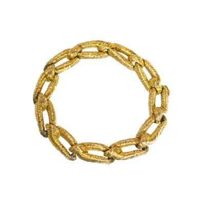 Cartier 18 Karat Gold Link Bracelet by Cartier Paris Circa 1970