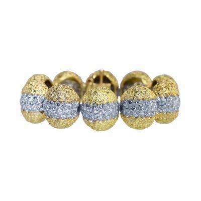 Cartier 18 Karat Gold Platinum and Diamond Bracelet by Cartier France circa 1970