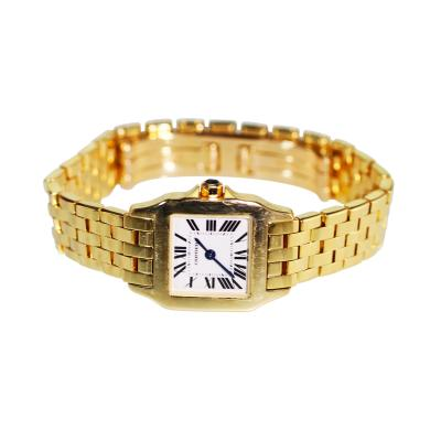 Cartier 18 Karat Gold Santos Demoiselle Wristwatch by Cartier