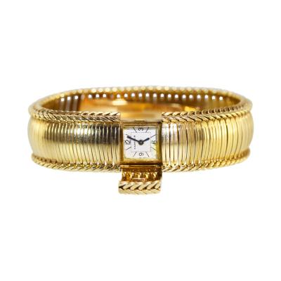 Cartier 18 Karat Gold Watch by Cartier France circa 1950