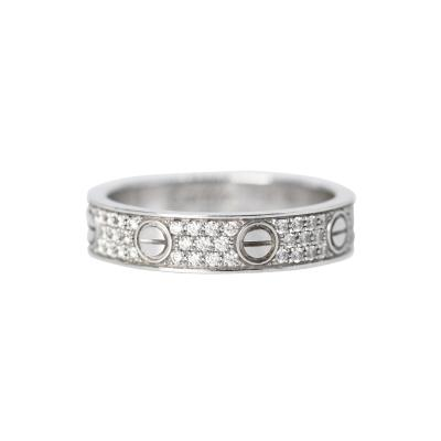 Cartier 18 Karat White Gold and Diamond Love Band Cartier