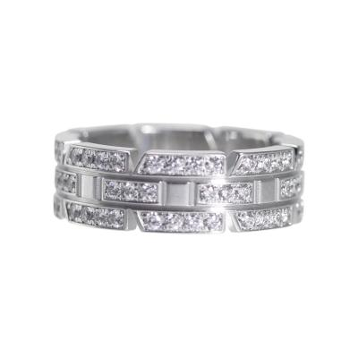 Cartier 18 Karat White Gold and Diamond Ring by Cartier