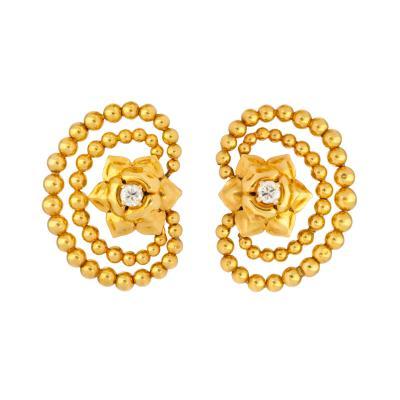 Cartier 18K Gold Diamond Earrings by Cartier Paris