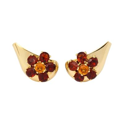 Cartier 18k Gold Citrine Earrings by Cartier
