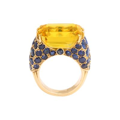 Cartier 1950s Yellow Sapphire Ring by Cartier
