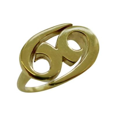 Cartier 1970s Cartier Gold Zodiac Ring Cancer