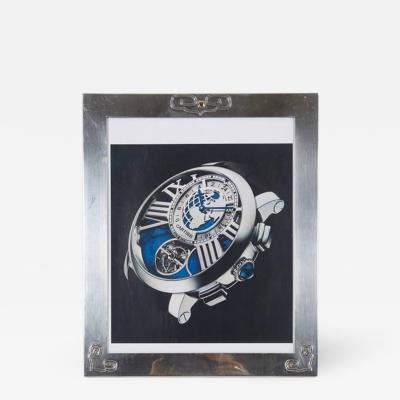 Cartier Art Deco Cartier Sterling Silver and Gold Picture Photo Frame
