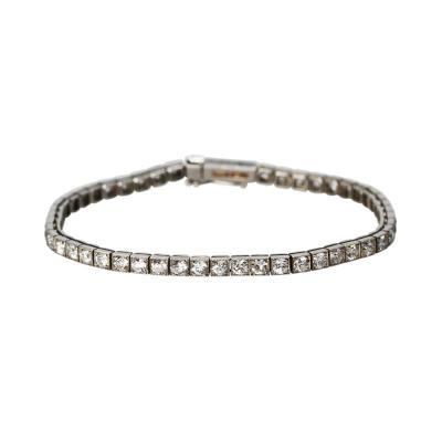 Cartier Art Deco Platinum and Diamond Straight Line Bracelet by Cartier Paris