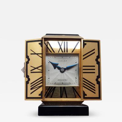 Cartier Art Deco altar or tryptique table clock Cartier 1930