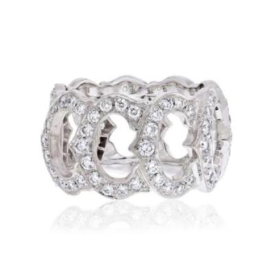 Cartier CARTIER 18K WHITE GOLD C DE CARTIER ALL DIAMOND RING