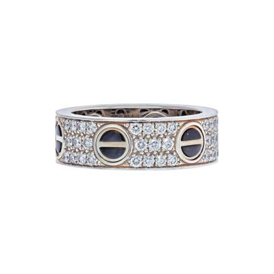 Cartier CARTIER 18K WHITE GOLD LOVE CERAMIC DIAMOND RING