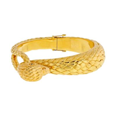 Cartier CARTIER 18K YELLOW GOLD 1960S FALCON BANGLE BRACELET