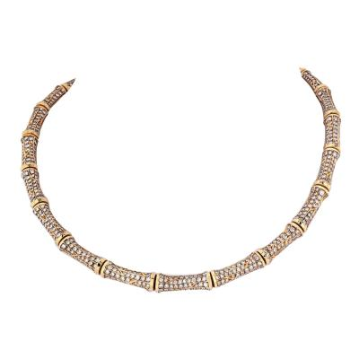 Cartier CARTIER 18K YELLOW GOLD 22 CARAT DIAMOND BAMBOO COLLAR NECKLACE