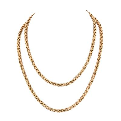 Cartier CARTIER 18K YELLOW GOLD 36 INCHES FRENCH LINK NECKLACE