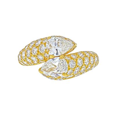 Cartier CARTIER 18K YELLOW GOLD DEUX TETES CROISEES RING