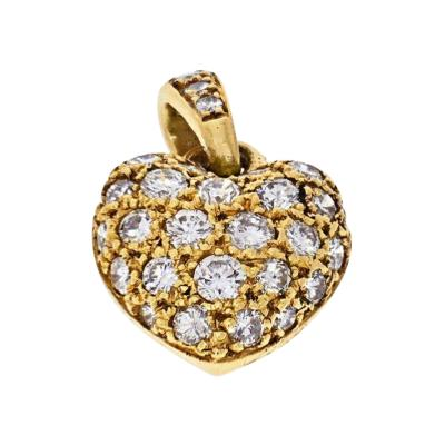 Cartier CARTIER 18K YELLOW GOLD DIAMOND HEART CHARM PENDANT