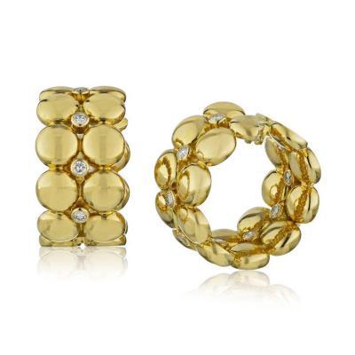 Cartier CARTIER 18K YELLOW GOLD ESTATE BUBBLES DIAMOND CLIP ON EARRINGS