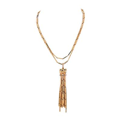 Cartier CARTIER 18K YELLOW GOLD LONG TASSEL SPOTTED PANTHERE PENDANT