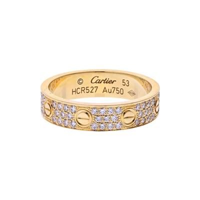 Cartier CARTIER 18K YELLOW GOLD LOVE PAVE DIAMOND RING