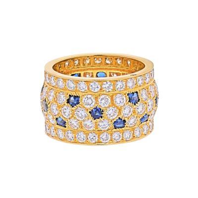 Cartier CARTIER 18K YELLOW GOLD NIGERIA DIAMOND SAPPHIRE RING