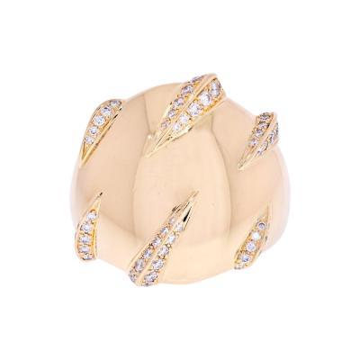 Cartier CARTIER 18K YELLOW GOLD PANTHERE CLAW DIAMOND RING