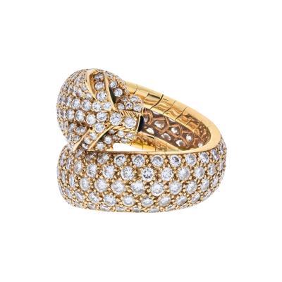 Cartier CARTIER 18K YELLOW GOLD PANTHERE PAVE DIAMOND LAKARDA RING