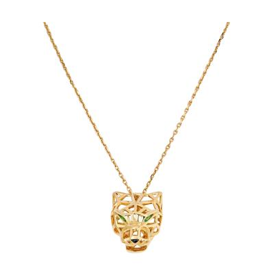 Cartier CARTIER 18K YELLOW GOLD SKELETON PANTHERE ON A CHAIN NECKLACE