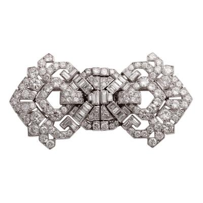 Cartier CARTIER Art Deco Diamond Clips