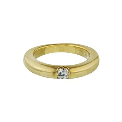 Cartier CARTIER CIRCA 1990 18K YELLOW GOLD 0 25 CARAT ROUND CUT ENGAGEMENT RING