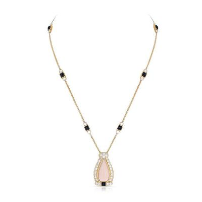 Cartier CARTIER CORAL ONYX AND DIAMOND NECKLACE 18K YELLOW GOLD
