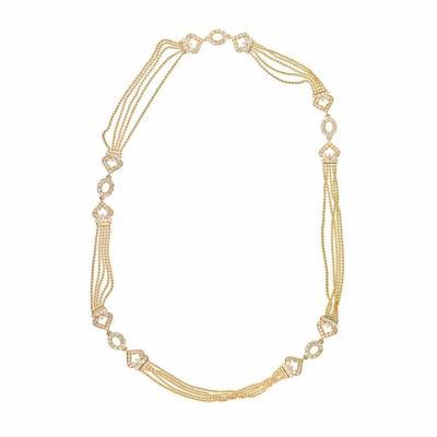 Cartier CARTIER DRAPERIE 18K YELLOW GOLD LONG STRAND CONVERTABLE DIAMOND NECKLACE