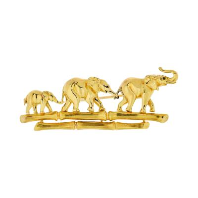Cartier CARTIER ELEPHANT 18K YELLOW GOLD VINTAGE BROOCH