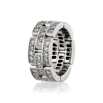 Cartier CARTIER MAILLON 18K WHITE GOLD 1 45CTS DIAMOND RING